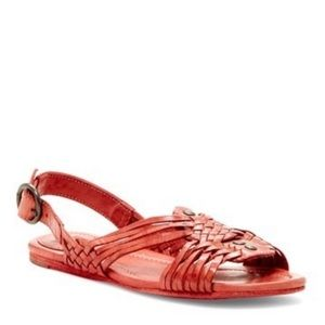 Frye Jacey huaraches red leather sandals 7